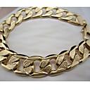 preiswerte Ohrringe-Herrn Ketten- & Glieder-Armbänder - vergoldet Armbänder Golden / Rotgold Für Alltag Normal Sport