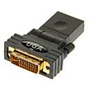 hesapli HDMI Kablolar-hdmi bayan + 5 erkek adaptörü DVI24 için