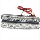 hesapli Diğer LED Işıkları-2pcs Araba Ampul 3W SMD LED 90lm 6 LED Güzdüz Çalışma Işığı