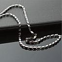 abordables Collar Hombre-collar de cadena de acero de titanio sólido de la moda de los hombres