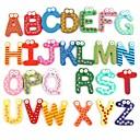 ieftine Compas-colorate drăguț 26 de litere de desene animate din lemn frigider magnet copil copil jucărie de învățământ