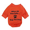 cheap Dog Clothing & Accessories-Cat Dog Shirt / T-Shirt Dog Clothes Letter & Number Orange Cotton Costume For Spring &  Fall