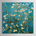 cheap Wall Art-Canvas Oil Paintings Almond Branches in Bloom, San Remy, c.1890 By Vincent Van Gogh Hand-Painted Ready to Hang