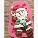 Χαμηλού Κόστους Εργαλεία και γκάτζετ ψησίματος-Χριστούγεννα Βασίλης δεκανίκια κέικ φοντάν εργαλεία διακόσμηση κέικ σοκολάτας μούχλα σιλικόνης, l7.8cm * w5cm * h1.7cm