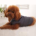 voordelige Hondenkleding & -accessoires-Hond Jassen / Hoodies / Gilet Hondenkleding Effen Zwart Bont / Dons / Katoen Kostuum Voor huisdieren Winter Heren / Dames Houd Warm / Sport / Donzen jacks
