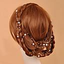 זול תכשיטים לשיער-קריסטל / דמוי פנינה / בד Tiaras / שרשרת ראש עם 1 חתונה / אירוע מיוחד / מסיבה\אירוע ערב כיסוי ראש