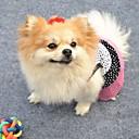 tanie Dekoracyjne naklejki-Kot Pies Suknie Ubrania dla psów Groszki White Black Bawełna Kostium Dla zwierząt domowych Cosplay Ślub