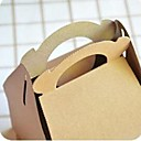 ieftine Cadouri-moda cookie-uri portabile cutie de hârtie maro (1 buc)