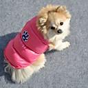 hesapli Köpek Giyim ve Aksesuarları-Kedi / Köpek Paltolar Köpek Giyimi Karton Turuncu / Pembe Pamuk Kostüm Evcil hayvanlar için Cosplay / Düğün