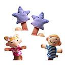 hesapli Kuklalar-Parmak Kuklalar Kuklalar Tatlı Sevimli Yenilikçi Yüksek kalite Tekstil Peluş Genç Kız Hediye 4pcs