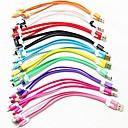 preiswerte Kabel & Adapter fürs Handy-3-in-1 USB-zu-8-Pin / 30pin / microUSB / Daten-Sync / Ladegerät Nudel-Kabel für Samsung und andere Handys (Farbe sortiert)