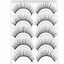 cheap Makeup & Nail Care-new 5 pairs european fiber natural looking black long false eyelashes eyelash eye lashes for eye extensions