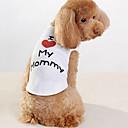 hesapli Drinking Tools-Köpek Tişört Köpek Giyimi Harf & Sayı Beyaz Pamuk Kostüm Evcil hayvanlar için