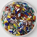 cheap Beads & Beading-350PCS Multicolor Glass Tube Pony Beads 2mm Handmade DIY Craft Material/Clothing Accessories