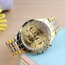 levne Pánské-Pánské Náramkové hodinky Křemenný Nerez Zlatá Analogové Klasické - Černá Zlatá Jeden rok Životnost baterie / SSUO 377