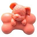 hesapli Fırın Araçları ve Gereçleri-Kemik köpek hayvan biçimli fondan kek çikolata silikon kalıp kek dekorasyon araçları, l7cm * w6.5cm * h3.5cm