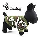 hesapli Fırın Araçları ve Gereçleri-Kedi Köpek Kapüşonlu Giyecekler Köpek Giyimi kamuflaj Kırmzı Yeşil Pamuk Kostüm Evcil hayvanlar için