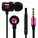 cheap Headsets & Headphones-JTX JL-701 In Ear Wired Headphones Plastic Mobile Phone Earphone with Volume Control / with Microphone / Noise-isolating Headset
