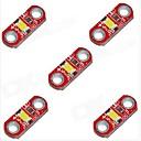 hesapli Modüller-kırmızı (5 adet) - hzled 5v 40mA 3000k 400-500mcd sıcak beyaz, mini 3000k modülü açtı