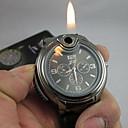 preiswerte Camping Werkzeuge-Herrn Armbanduhr Einzigartige kreative Uhr Quartz encendedor Silikon Band Analog Schwarz - Weiß Schwarz