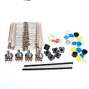 cheap Modules-Universal Carbon Resisters + Rotary Potentiometers Parts Set for Arduino