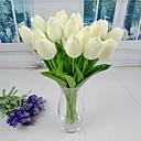 hesapli Yapay Çiçekler-Yapay Çiçekler 6 şube minimalist tarzı Laleler Masaüstü Çiçeği