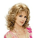 cheap Brooches-Synthetic Wig Blonde With Bangs Synthetic Hair Blonde Wig Medium Length