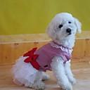preiswerte Auto Innenleuchten-Kleider für Hunde Rosa Sommer XS / S / L Baumwolle