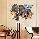 hesapli Banyo Gereçleri-Manzara Hayvanlar Natürmort Romantizm Moda Fantezi 3D Duvar Etiketler 3D Duvar Çıkartması Dekoratif Duvar Çıkartmaları, Kağıt Ev