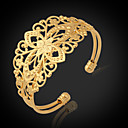 abordables Porte-clés-Femme Chunky Manchettes Bracelets / Bracelet - Platiné, Plaqué or Mode Bracelet Doré Pour Regalos de Navidad / Mariage / Soirée