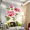 preiswerte Handtücher & Bademäntel-chinesische Art lebendige Blüte PVC-Wandaufkleber