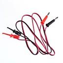 voordelige DHZ-onderdelen-test lijn / banaanstekkers draai-test haak / 2 stekker hook turn 2 (1 m kabellengte)