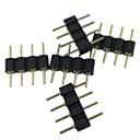 hesapli Konnektörler-(5 adet) rgb 5050/3528 için 4pin erkek konnektör led şerit ışık bağlayın