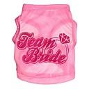 ieftine Gadget Baie-Pisici Câine Tricou Îmbrăcăminte Câini Roz Terilenă Costume Pentru Vară Cosplay Nuntă