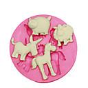 Недорогие Приборы для выпечки-животная форма формы овцы свиньи осел лошади для украшения торта силиконовые формы для помадные конфеты ремесла ювелирных изделий PMC