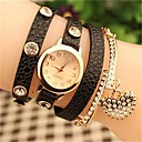 Buy Women's 2015 Latest Fashion Crystal heart Leather Quartz Watch Hot Sale(Assorted Colors) Cool Watches Unique