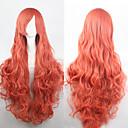 preiswerte Anime Cosplay-Synthetische Perücken Locken Blond Wig Asymmetrischer Haarschnitt Synthetische Haare Natürlicher Haaransatz Blond Perücke Damen Lang Kappenlos