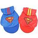 cheap Dog Clothing & Accessories-Cat Dog Shirt / T-Shirt Hoodie Rain Coat Dog Clothes Red Blue Cotton Costume For Summer Cosplay Wedding