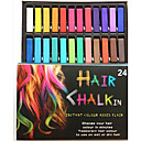 hesapli Makyaj ve Tırnak Bakımı-saç toksik olmayan saç boyası pastel geçici 24 renk tebeşir pastel boya diy şekillendiriciler sopa