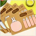 ieftine Caiete & Bilete Lipicioase-animal 2 forme kraft hârtie autocolantă notă (culoare aleatoare) pentru școală / birou