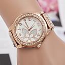 preiswerte LEDs-Damen Armbanduhr Quartz Armbanduhren für den Alltag Legierung Band Analog Charme Modisch Silber / Rotgold - Silber Rotgold