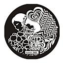 voordelige Nagelstempels-1 pcs Stempelplaat Sjabloon Schattig Nagel kunst Manicure pedicure Abstract / Punk / Bruiloft / stempelen Plate / Metaal