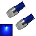 hesapli Diğer LED Işıkları-2pcs 1.5 W 50-100 lm 1 LED Boncuklar Yüksek Güçlü LED Mavi 12 V / 2 parça