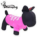 preiswerte Bekleidung & Accessoires für Hunde-Katze / Hund T-shirt Hundekleidung Buchstabe & Nummer Rose Baumwolle Kostüm Für Haustiere