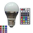 hesapli Takı Setleri-lm E26/E27 LED Küre Ampuller A50 1 led Yüksek Güçlü LED Kısılabilir Dekorotif Uzaktan Kumandalı RGB AC 85-265V