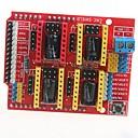 tanie Silniki i części-Tarcza grawerowanie cnc 3d drukarka a4988 v3 rozszerzenie zarządu Arduino pokładzie sterownik