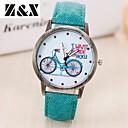 preiswerte Damenuhren-Damen Armbanduhr Quartz Schlussverkauf Leder Band Analog Retro Modisch Uhr mit Wörtern Schwarz / Weiß / Blau - Rot Grün Blau