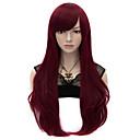 hesapli Sentetik Peruklar-Sentetik Peruklar / Kostüm Perukları Düz Sentetik Saç Peruk Kadın's Çok uzun Bonesiz Kırmzı