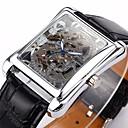 preiswerte Auto Aufkleber-WINNER Herrn Armbanduhr Mechanische Uhr Automatikaufzug Transparentes Ziffernblatt PU Band Analog Luxus Schwarz - Silber Golden
