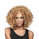 hesapli Makyaj ve Tırnak Bakımı-Sentetik Peruklar Bukle Sarışın Sentetik Saç Afrp Amerikan Peruk / tutkalsız Sarışın Peruk Kadın's Orta Bonesiz Açık Kahverengi
